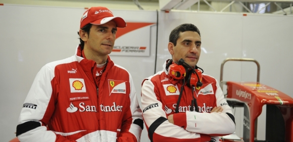 Pedro de la Rosa and Andrea Stella - Photo: Ferrari
