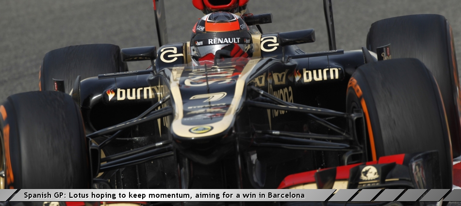 Spanish GP: Lotus hoping to keep momentum, aiming for a win in Barcelona