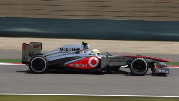 Only one McLaren on track: Sergio Perez - Photo: McLaren F1
