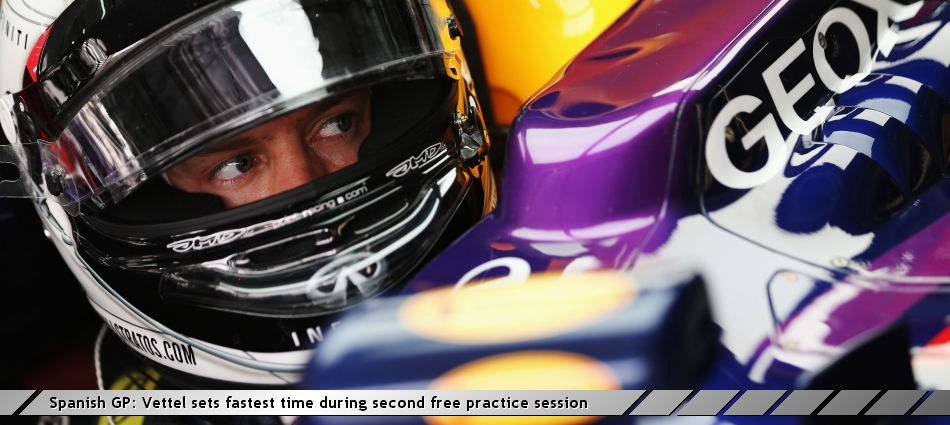 Spanish GP: Vettel sets fastest time during second free practice session