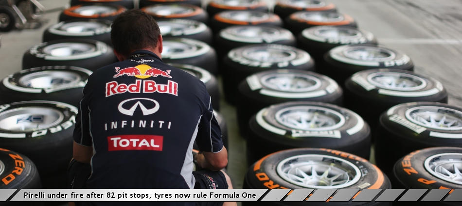 Pirelli under fire after 82 pit stops, tyres now rule Formula One