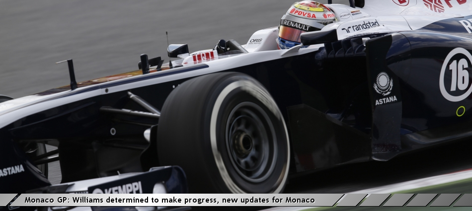 Monaco GP: Williams determined to make progress, new updates for Monaco
